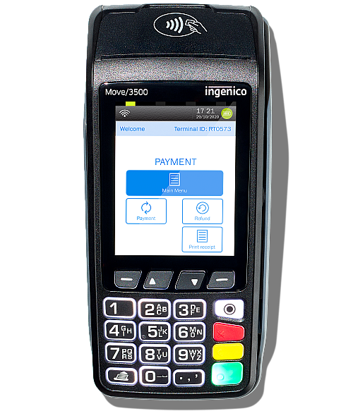 The portable card machine - Ingenico Move 3500